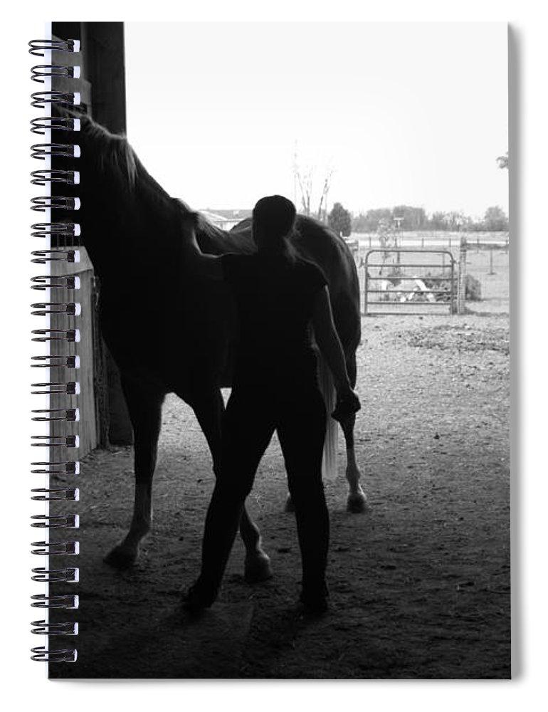 Horse Spiral Notebook featuring the photograph Equus Sapien IIi by J M Lister