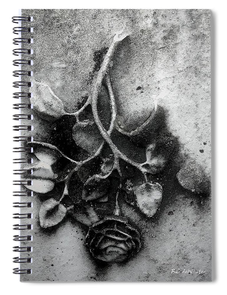 Antique Spiral Notebook featuring the painting Everblooming by RC DeWinter