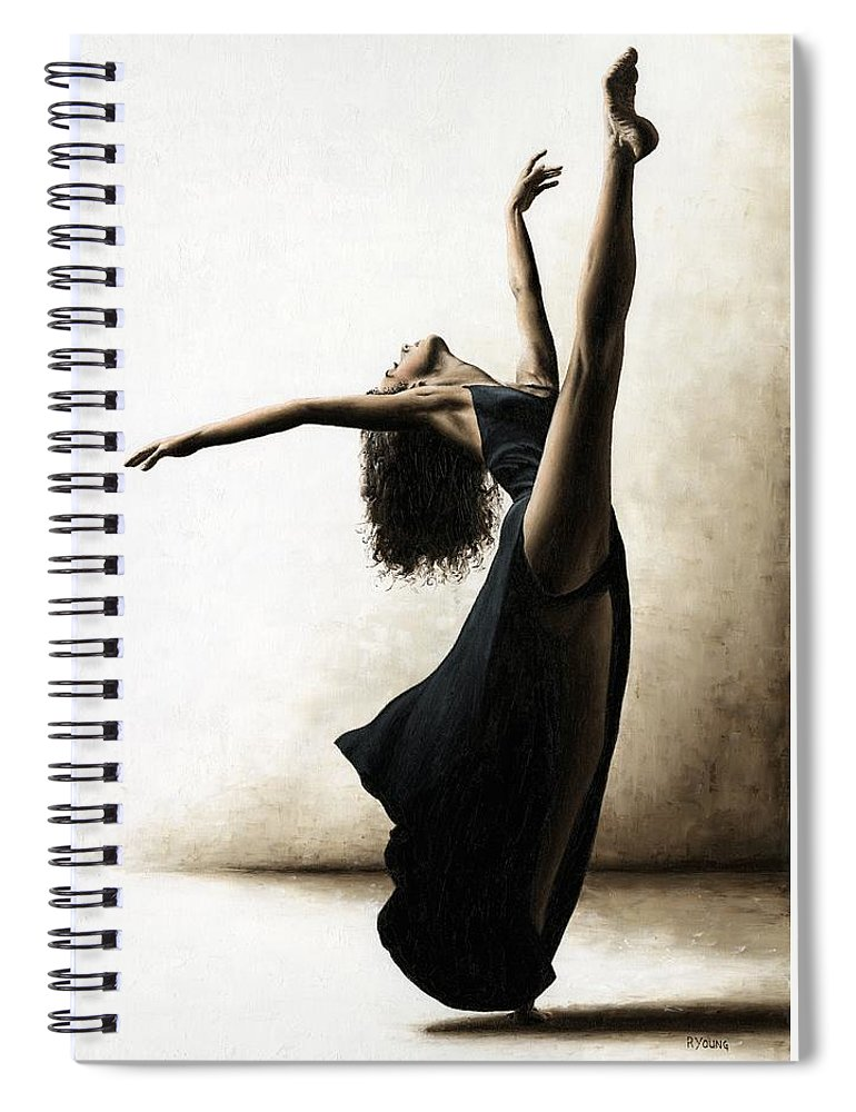 Dance Spiral Notebook featuring the painting Exclusivity by Richard Young