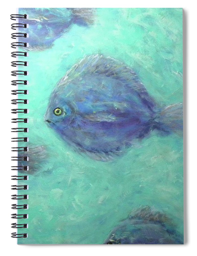 Fish Spiral Notebook featuring the painting Exotic Fish by Paul Emig