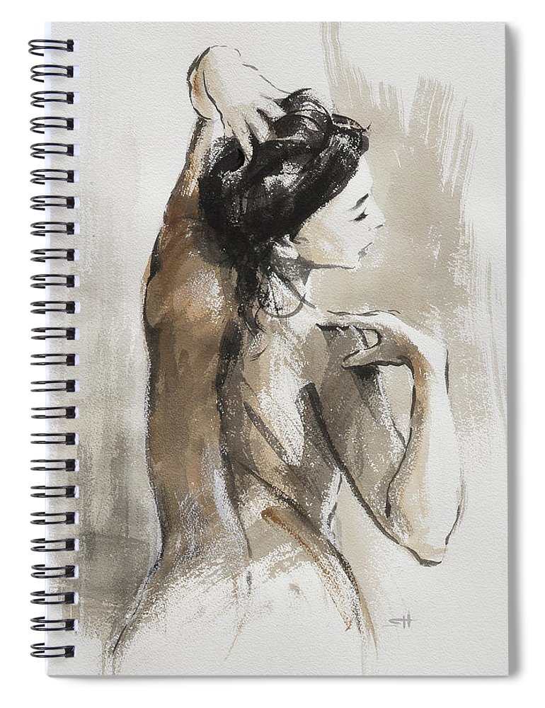 Woman Spiral Notebook featuring the painting Expression by Steve Henderson
