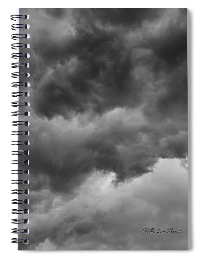Clouds Spiral Notebook featuring the photograph Faces In The Mist Of Chaos by ChelleAnne Paradis
