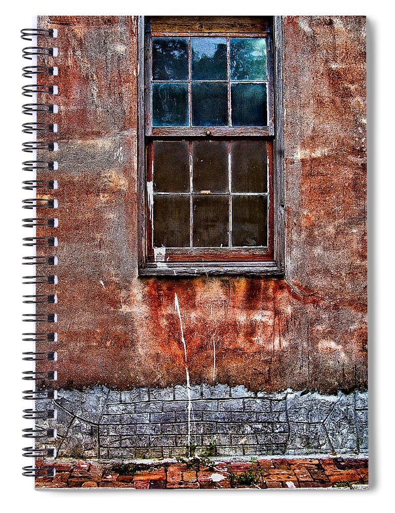 Window Spiral Notebook featuring the photograph Faded Over TIme by Christopher Holmes