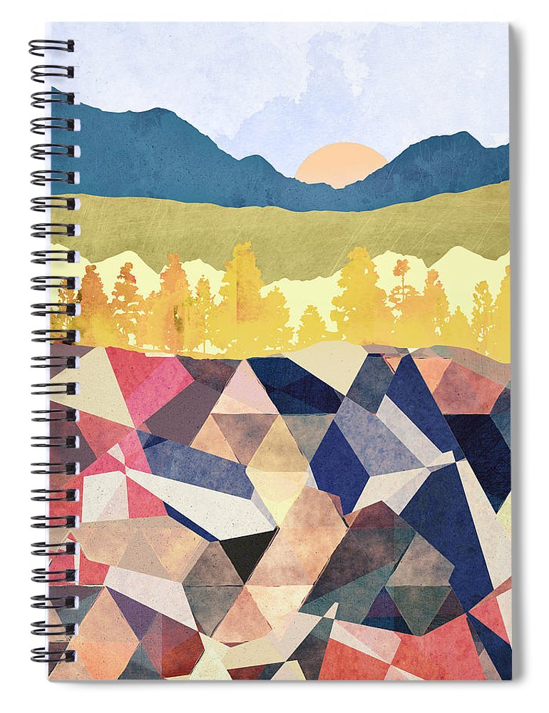 Fall Spiral Notebook featuring the digital art Fall Afternoon Light by Spacefrog Designs