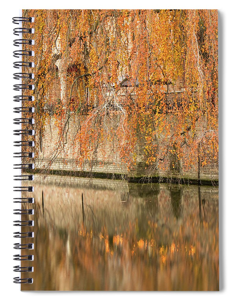 Fall Spiral Notebook featuring the photograph Fall in Bruges, Belgium by Dalibor Hanzal