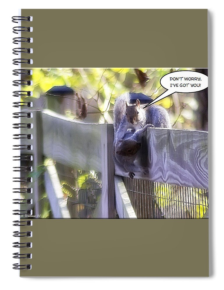 2d Spiral Notebook featuring the photograph Fallen For You by Brian Wallace