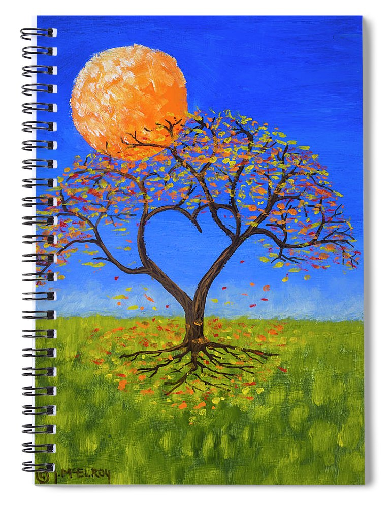 Love Spiral Notebook featuring the painting Falling For You by Jerry McElroy