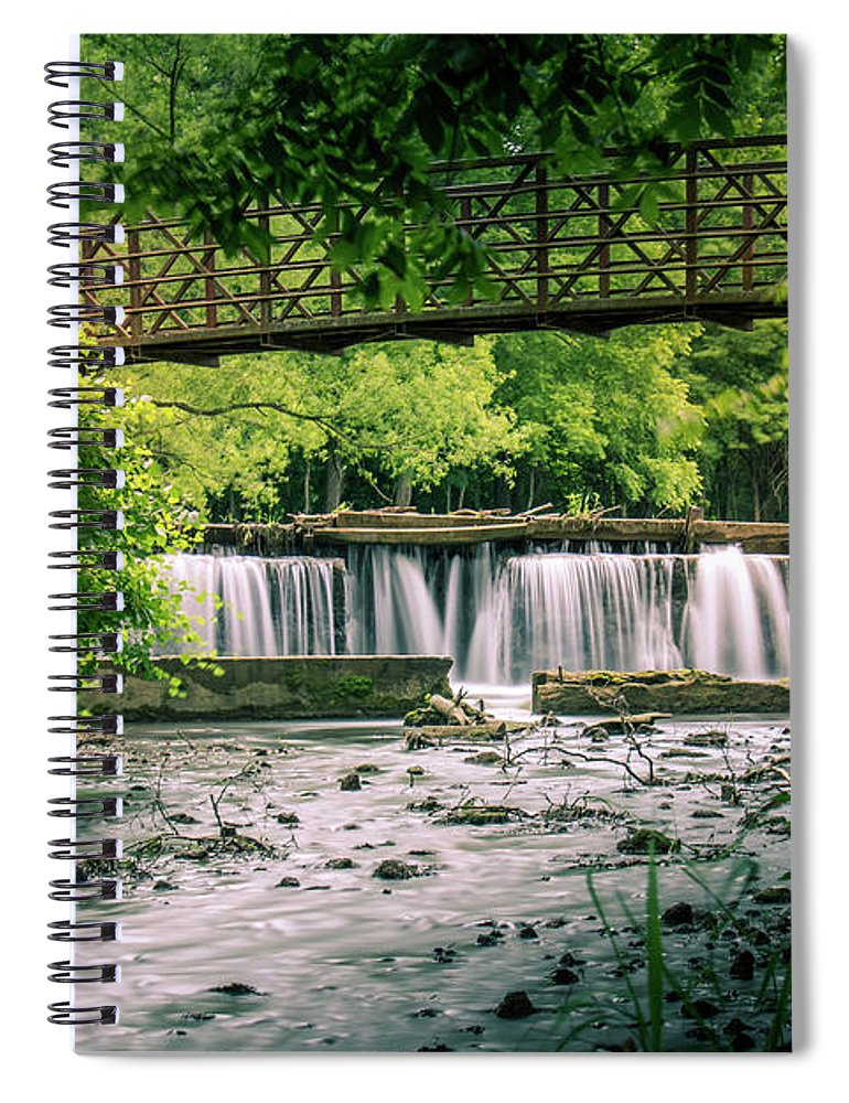 Falls Spiral Notebook featuring the photograph Falls At Ritter Springs by Allin Sorenson