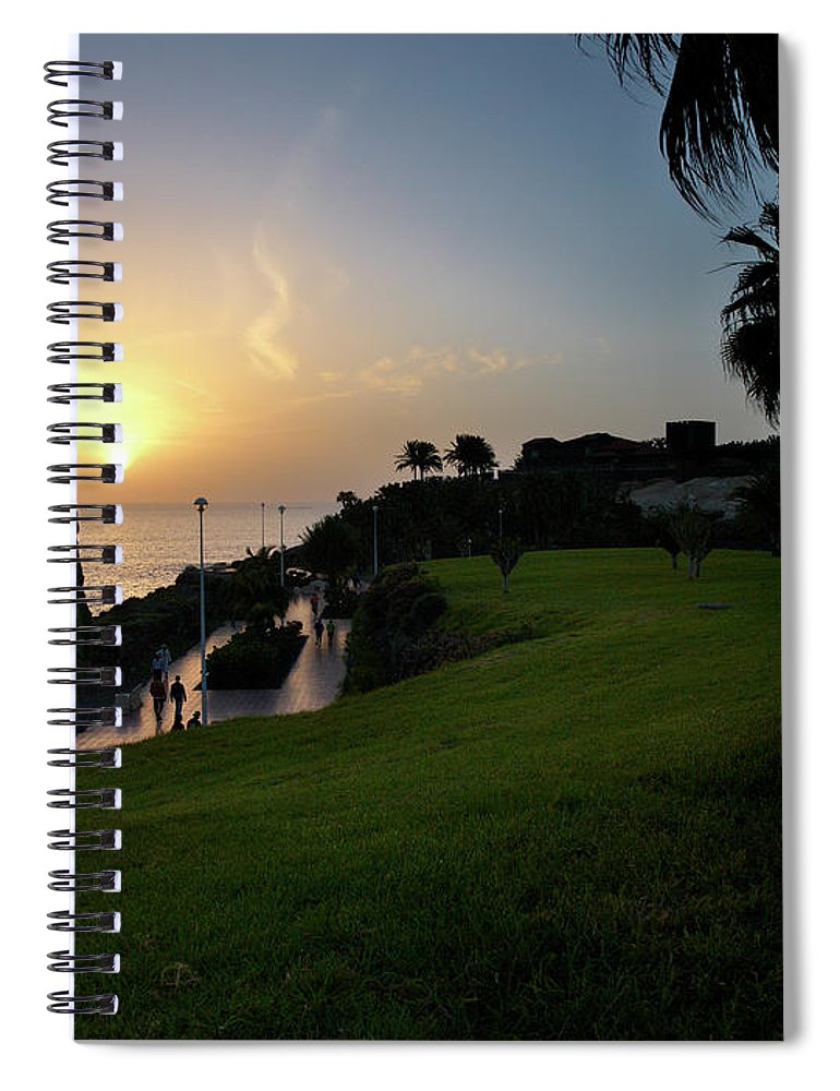 Fanabe Spiral Notebook featuring the photograph Fanabe Evening 1 by Jouko Lehto