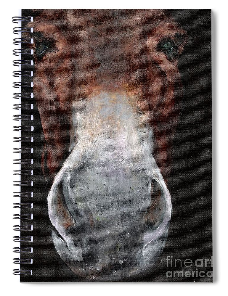 Mule Spiral Notebook featuring the painting Fannie by Frances Marino