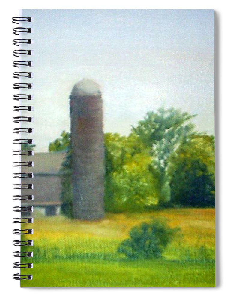 Farm Spiral Notebook featuring the painting Farm in the Pine Barrens by Sheila Mashaw