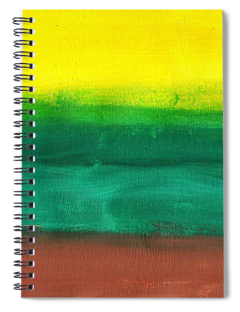 Art & Collectibles Spiral Notebook featuring the painting Farmers Peace by Sindy Original