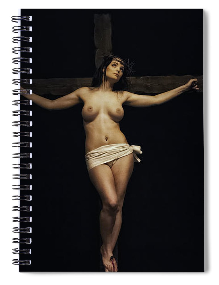 Woman Spiral Notebook featuring the photograph Female Jesus by Ramon Martinez