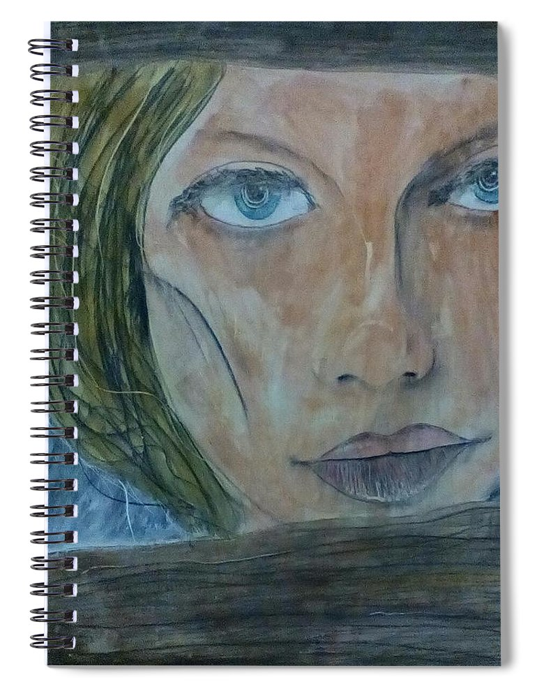 Girl Spiral Notebook featuring the painting Fence Line by J Bauer