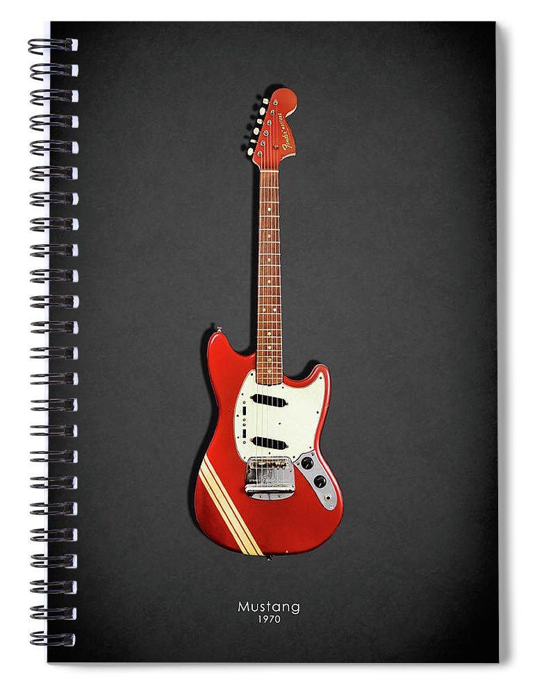 Fender Mustang Spiral Notebook featuring the photograph Fender Mustang 70 by Mark Rogan