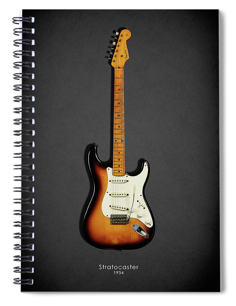 Fender Stratocaster Spiral Notebook featuring the photograph Fender Stratocaster 54 by Mark Rogan