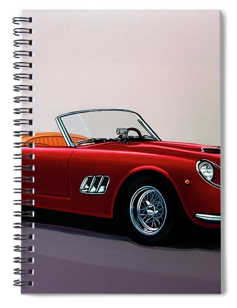 Ferrari 250 Gt California Spyder 1957 Painting Spiral Notebook For
