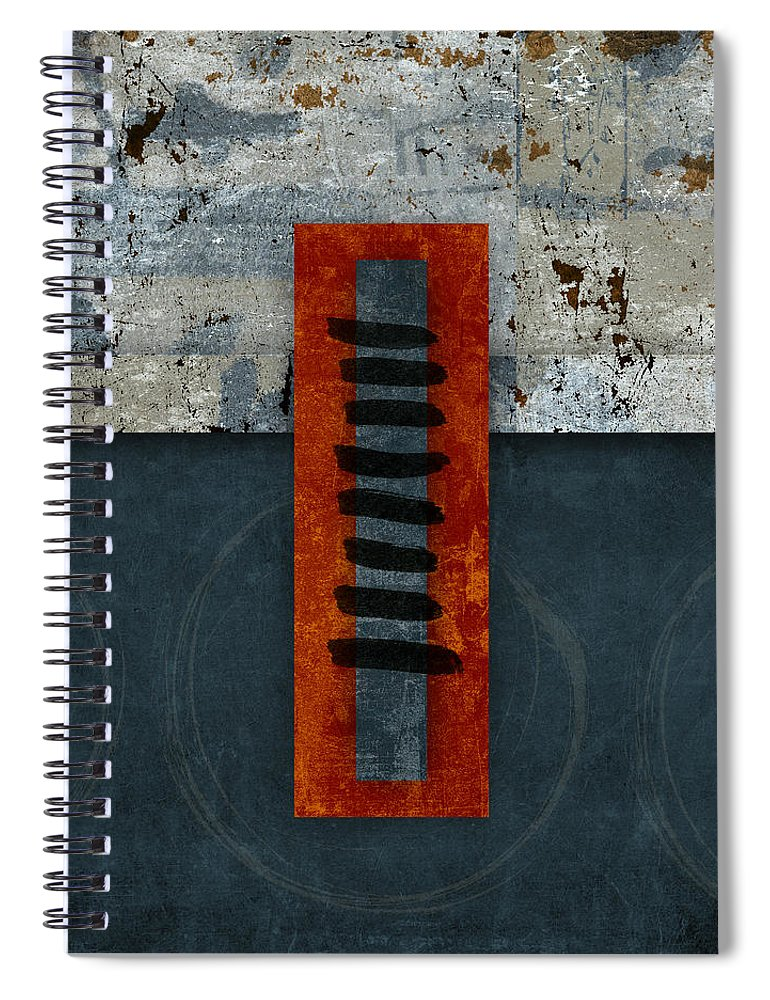 Red Spiral Notebook featuring the photograph Fiery Red And Indigo One Of Two by Carol Leigh