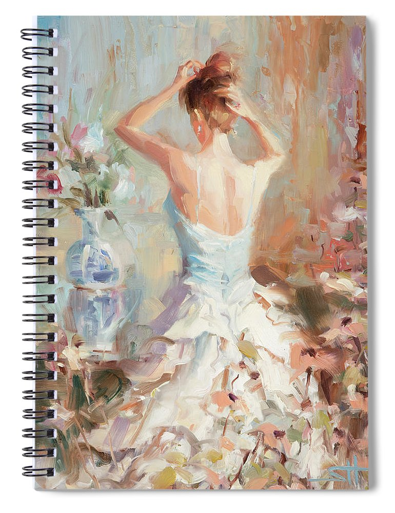 Romance Spiral Notebook featuring the painting Figurative II by Steve Henderson