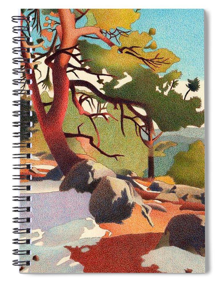 Art Spiral Notebook featuring the drawing Fillius Ridge by Dan Miller