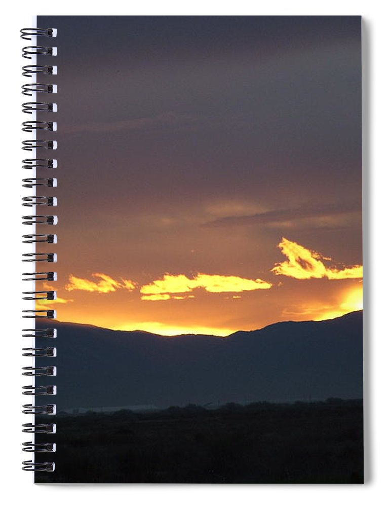 Sunset Spiral Notebook featuring the photograph Fire In The Sky by Shari Chavira
