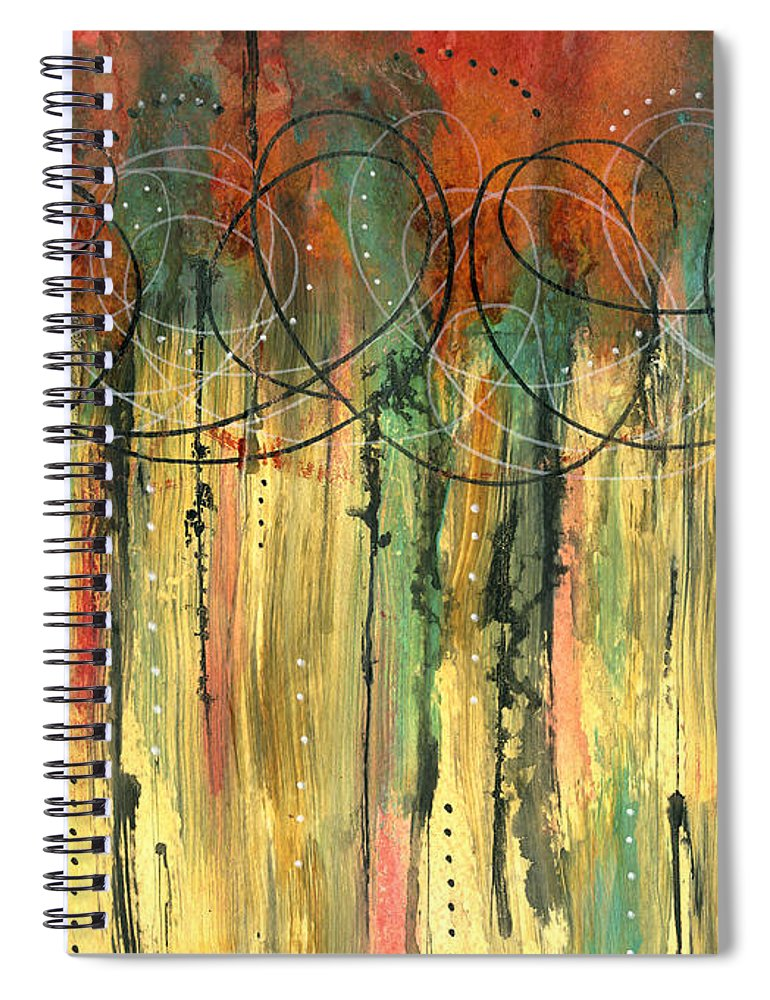 Mixed Media Spiral Notebook featuring the mixed media Firefly's Dance by Cyndi Lavin