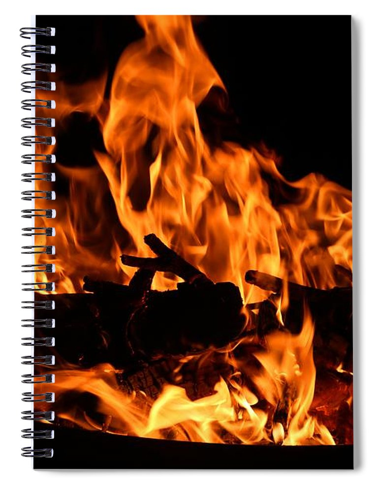 Firepit Spiral Notebook featuring the photograph Firepit by Kathryn Meyer