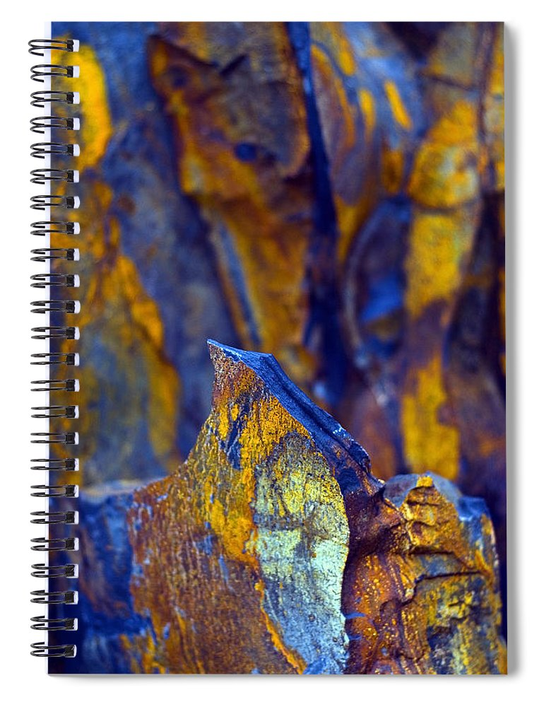 Texture Spiral Notebook featuring the photograph First Cut is the Deepest by Skip Hunt