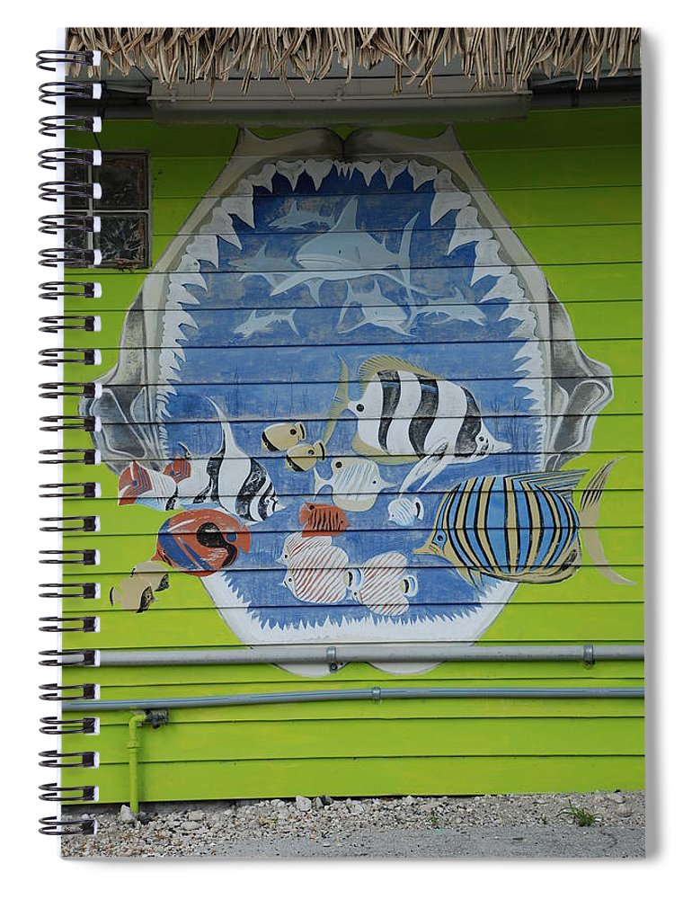 Teeth Spiral Notebook featuring the photograph Fish by Rob Hans