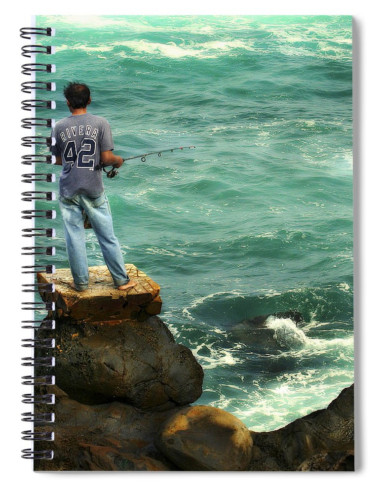 Americana Spiral Notebook featuring the photograph Fisherman by Marilyn Hunt