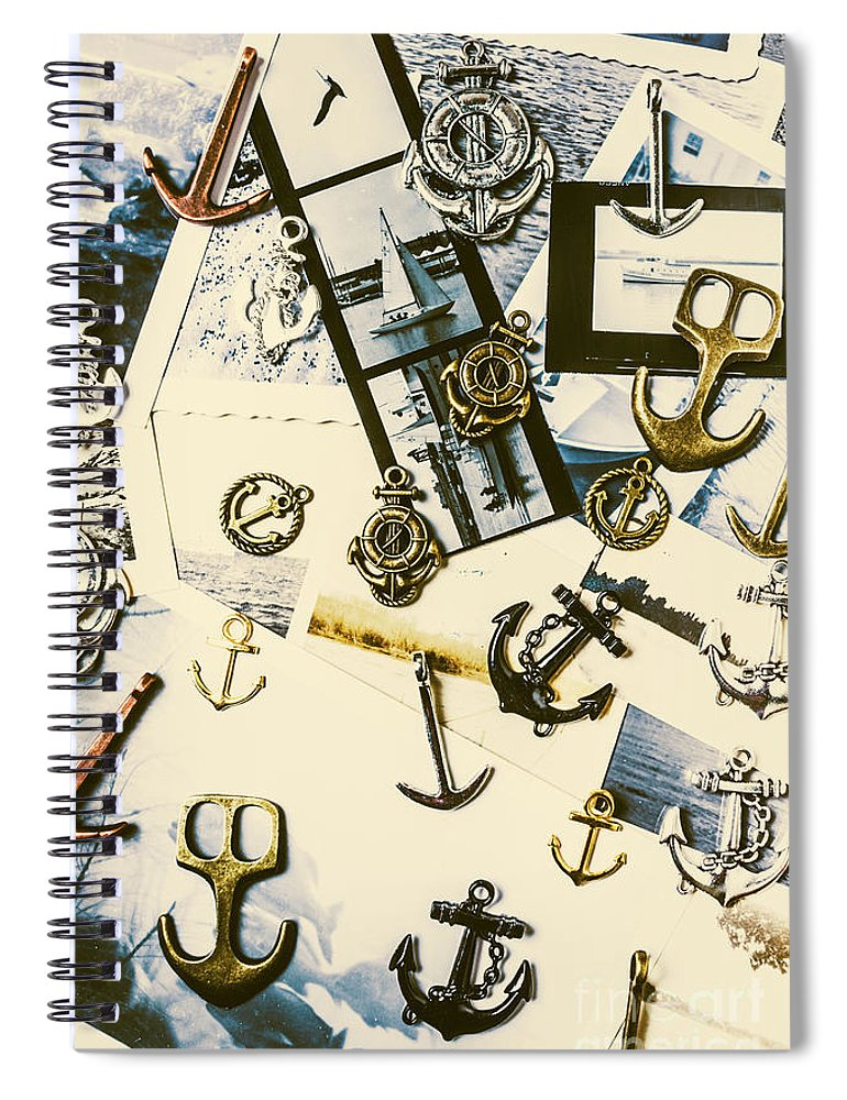 Anchor Spiral Notebook featuring the photograph Fishermans Iconography by Jorgo Photography - Wall Art Gallery