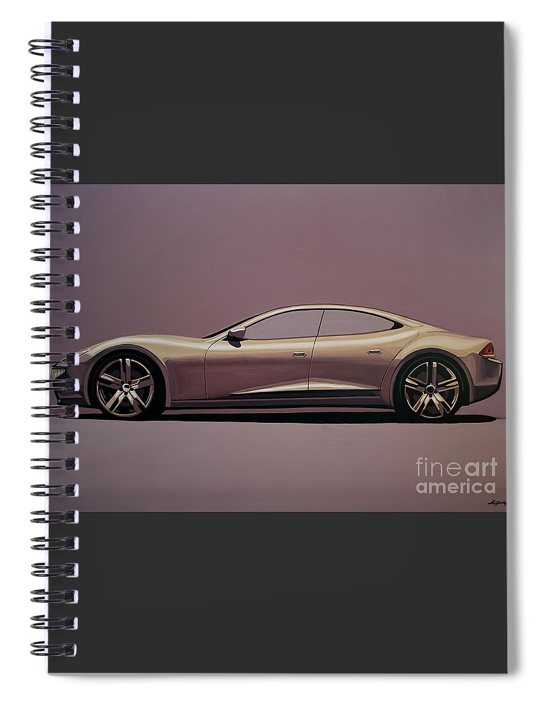 Fisker Karma Spiral Notebook featuring the painting Fisker Karma 2012 Painting by Paul Meijering