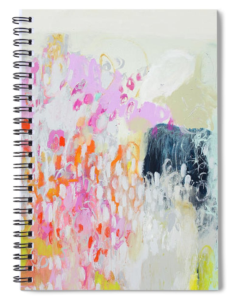 Abstract Spiral Notebook featuring the painting Fizz by Claire Desjardins