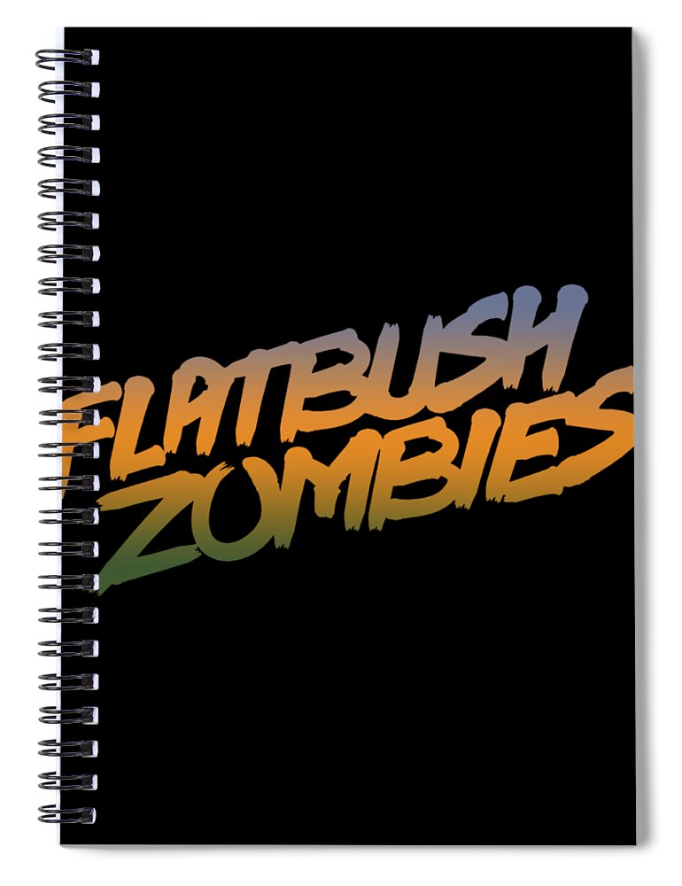 Flatbush Zombies Logo Spiral Notebook Featuring The Digital Art Tour 2018 Malcode01 By