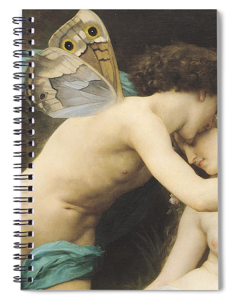 Flora And Zephyr Spiral Notebook featuring the painting Flora and Zephyr by William Adolphe Bouguereau