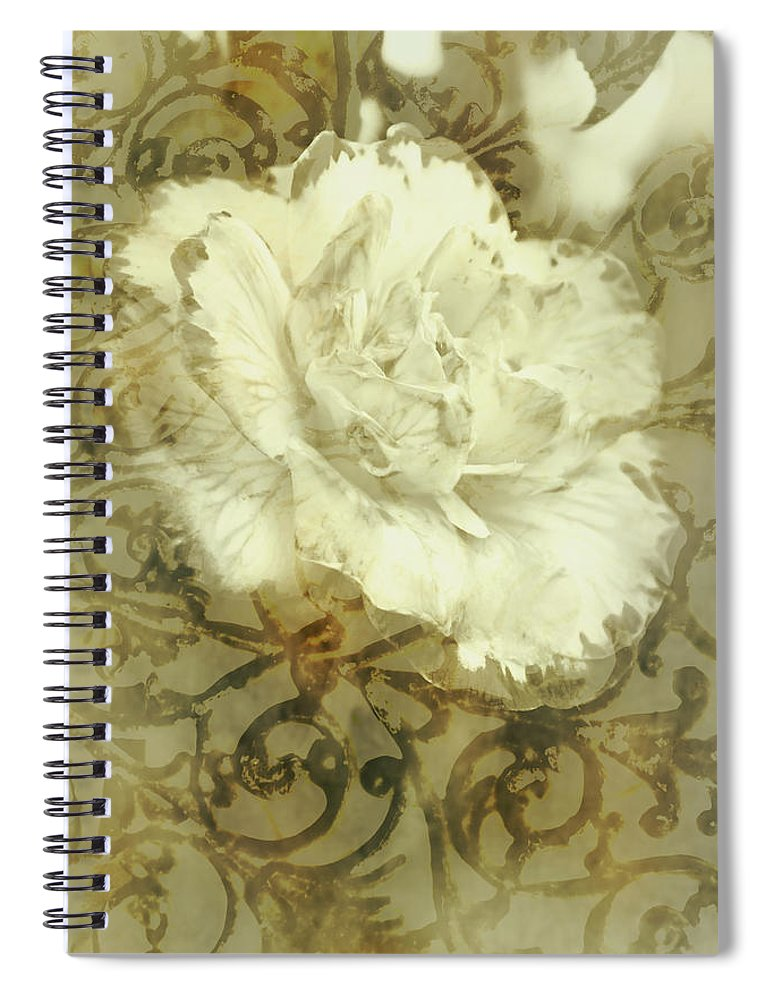 Flower Spiral Notebook featuring the photograph Flowers By The Window by Jorgo Photography - Wall Art Gallery
