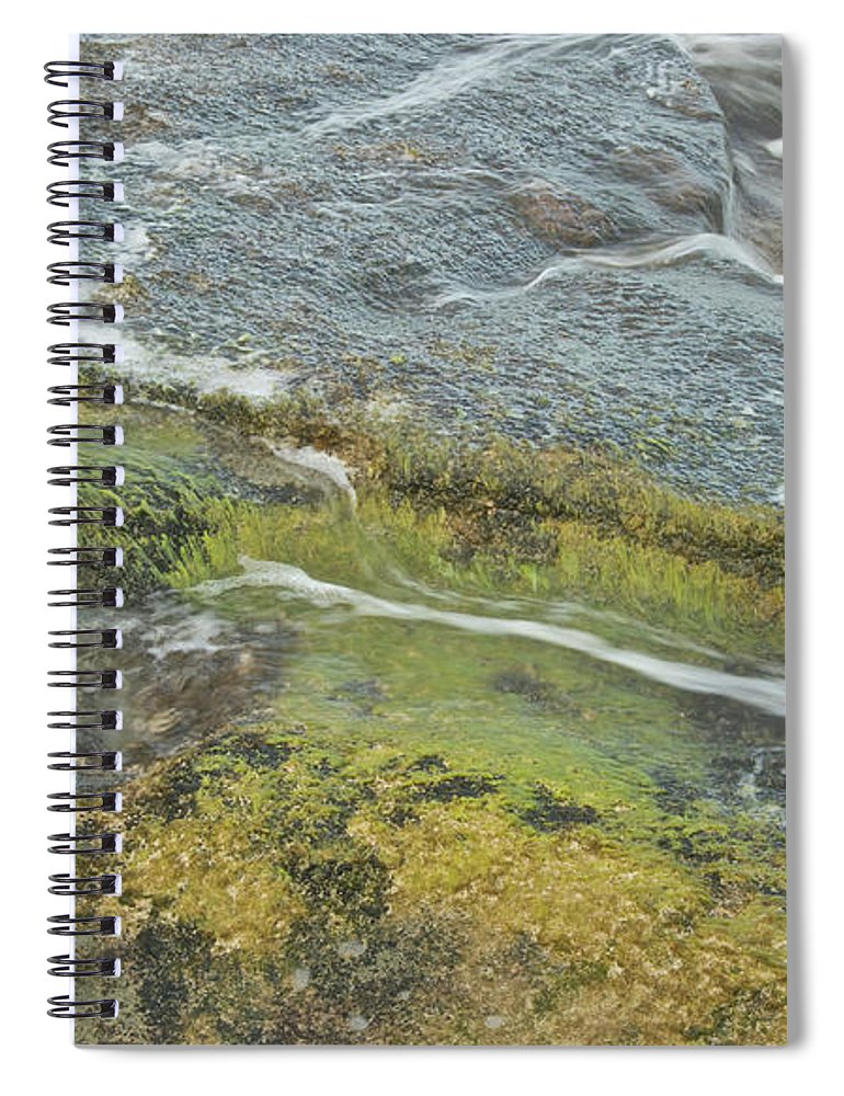 Water Spiral Notebook featuring the photograph Flowing Water by Michael Peychich