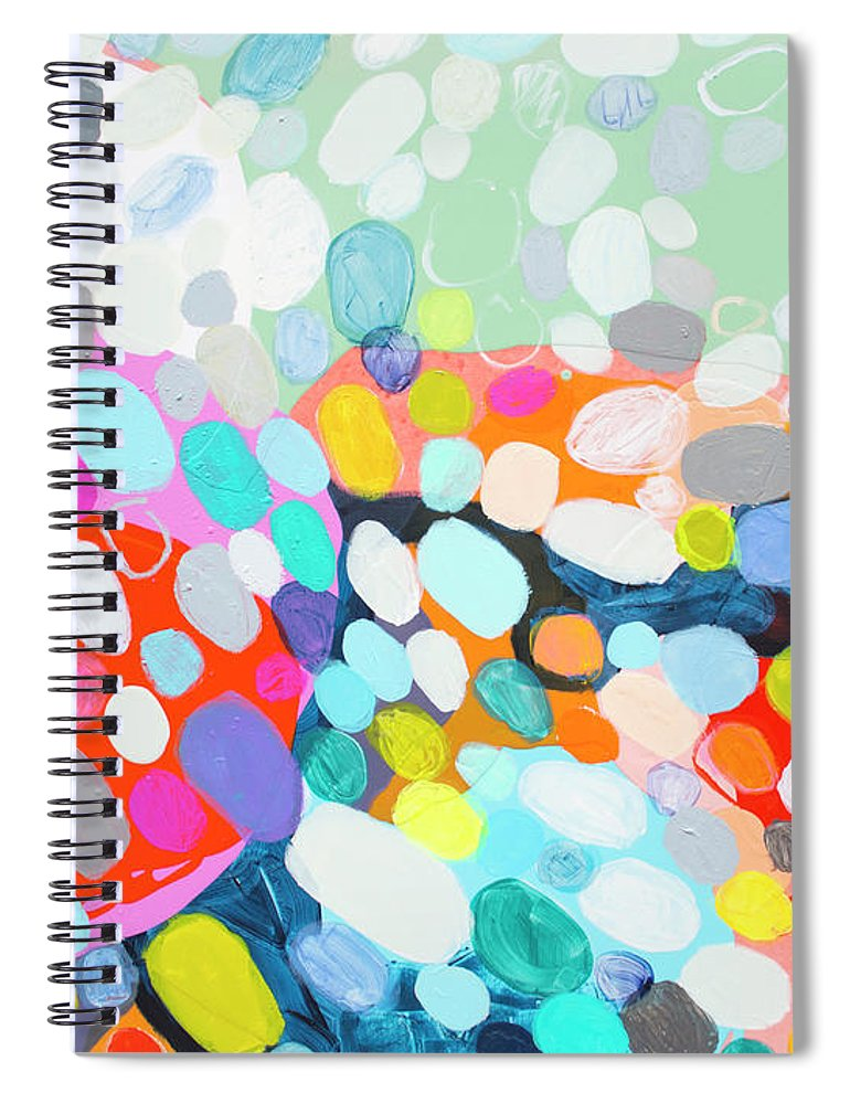Abstract Spiral Notebook featuring the painting Flushed by Claire Desjardins