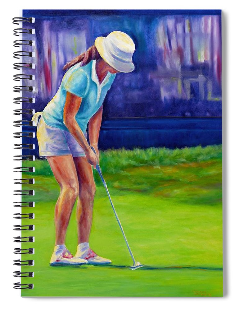 Woman Spiral Notebook featuring the painting Focus by Shannon Grissom