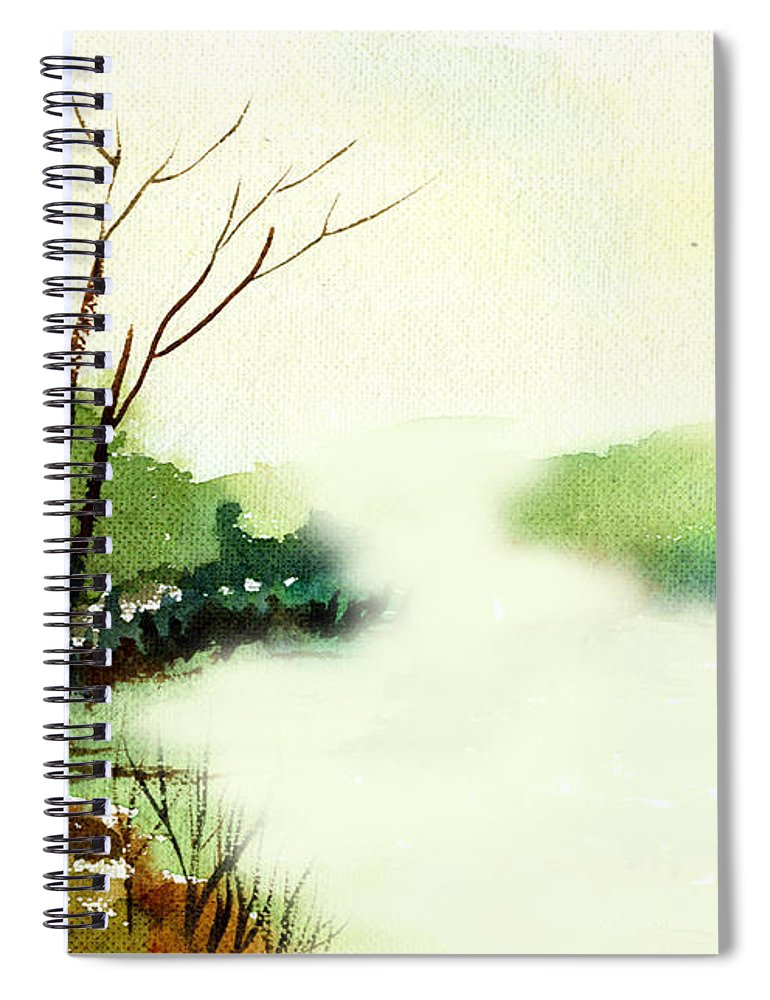 Water Color Spiral Notebook featuring the painting Fog1 by Anil Nene