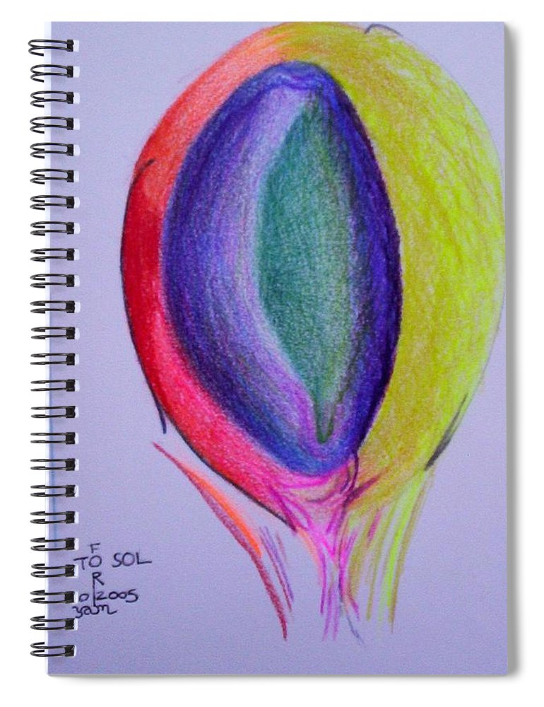 Abstract Spiral Notebook featuring the painting For Sol by Suzanne Udell Levinger