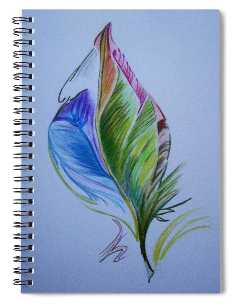 Abstract Spiral Notebook featuring the drawing For Starters by Suzanne Udell Levinger