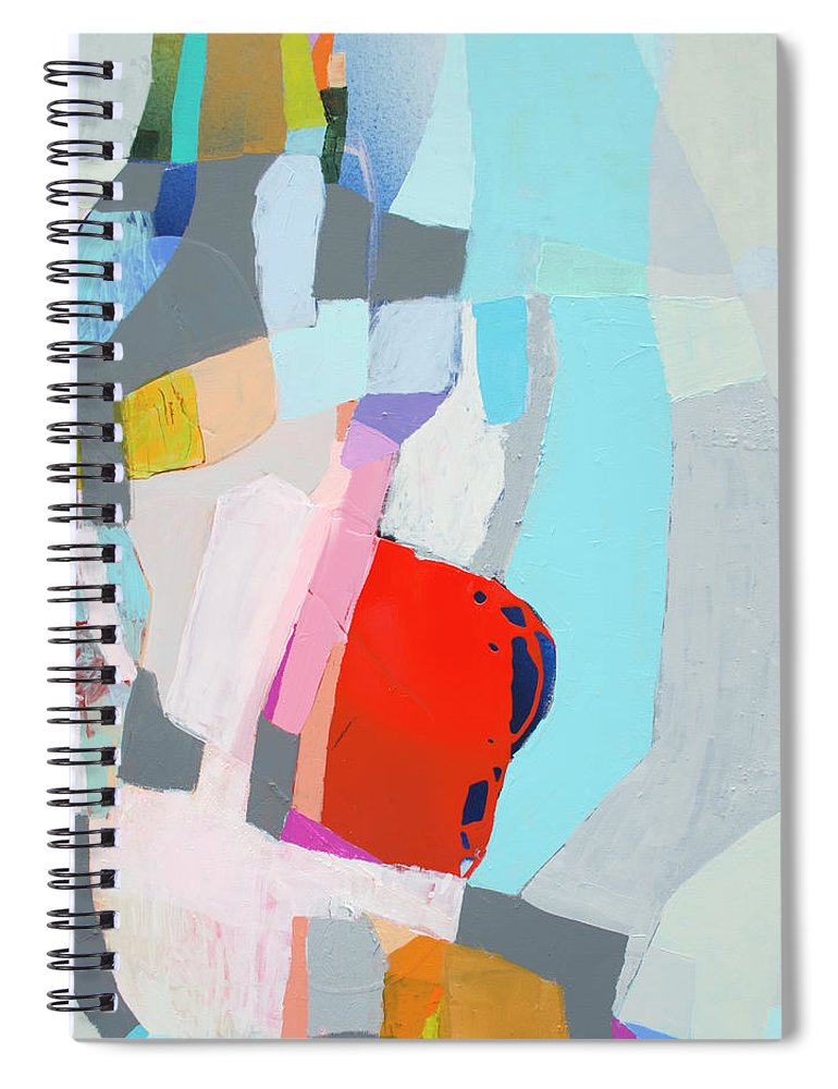 Abstract Spiral Notebook featuring the painting For What You Are by Claire Desjardins