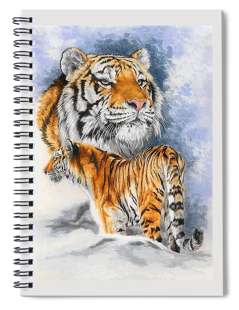 Big Cats Spiral Notebook featuring the mixed media Forceful by Barbara Keith
