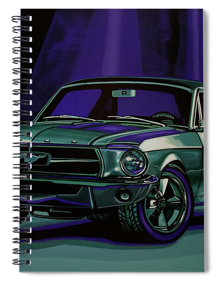 Ford Mustang Spiral Notebook featuring the painting Ford Mustang 1967 Painting by Paul Meijering