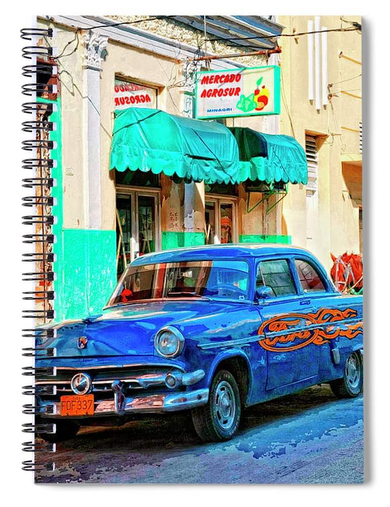 Ford Power Spiral Notebook featuring the mixed media Ford Power by Dominic Piperata