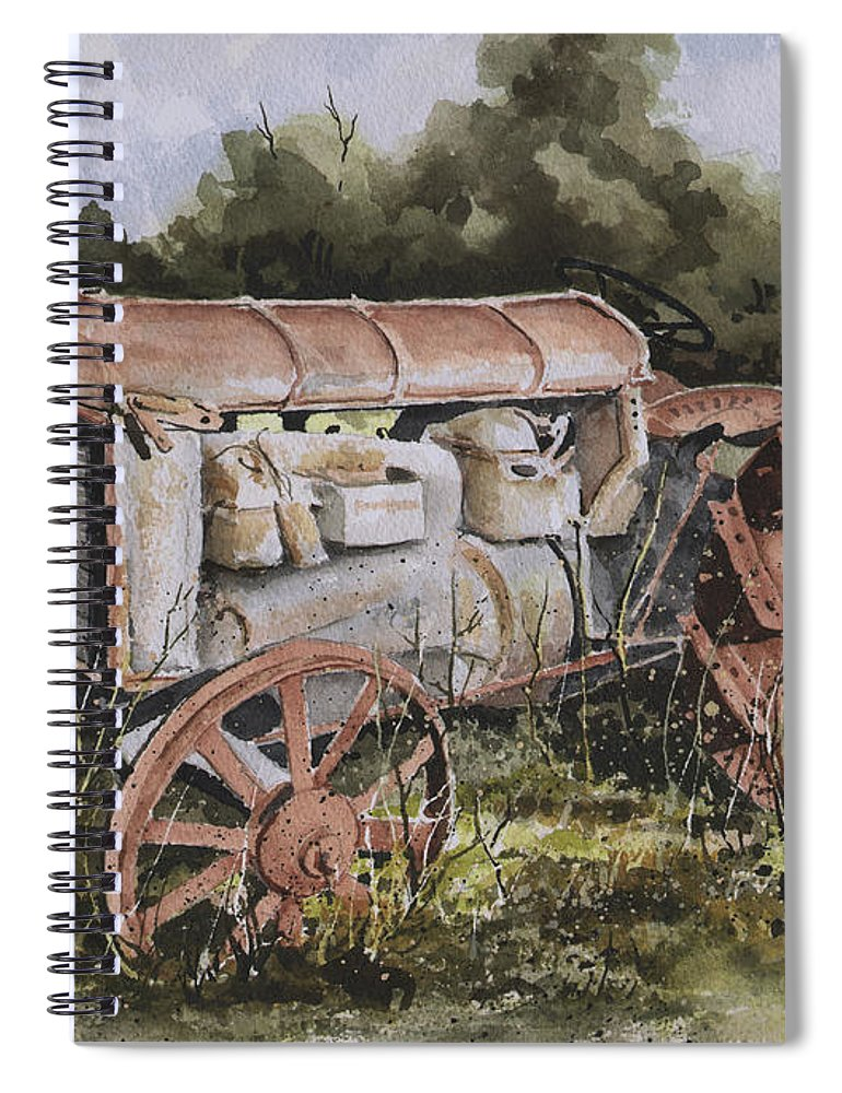 Farm Spiral Notebook featuring the painting Fordson Model F by Sam Sidders