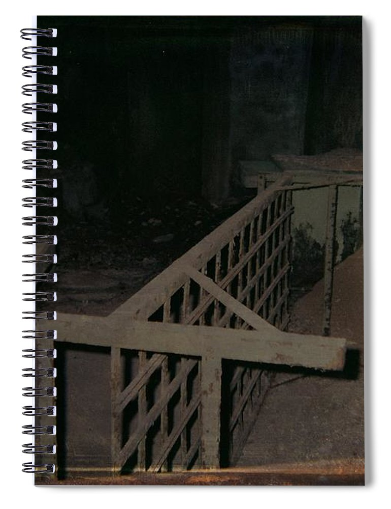 Abandoned Building Spiral Notebook featuring the photograph Forgotten Room by Gothicrow Images