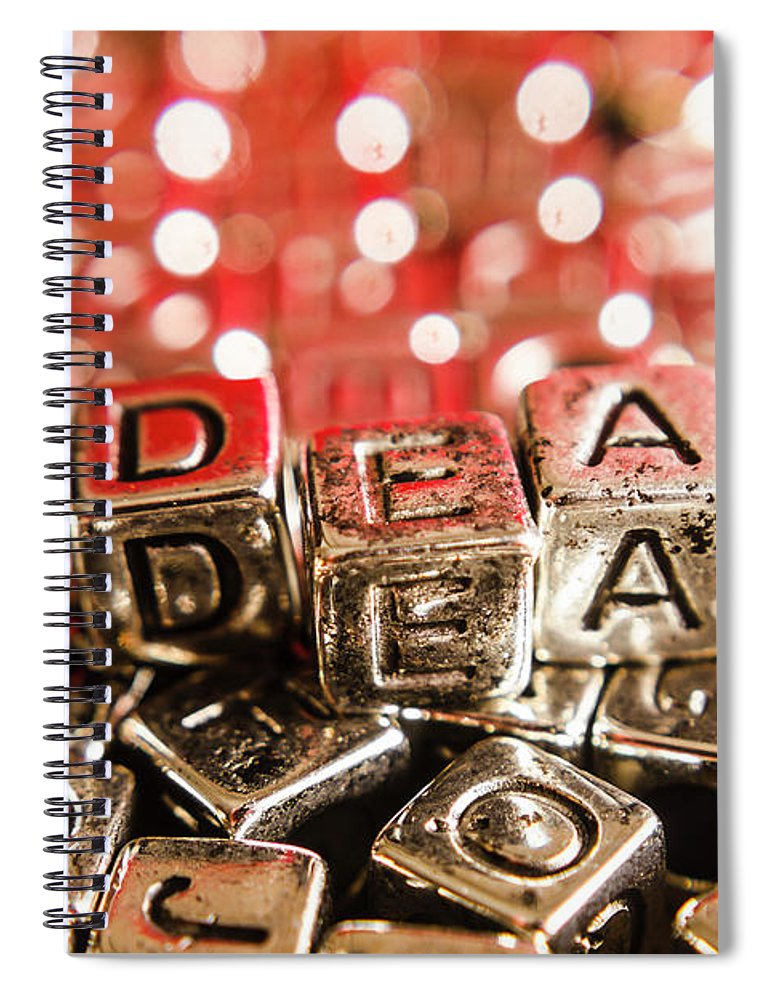 Business Spiral Notebook featuring the photograph Formulation Of Ideas by Jorgo Photography - Wall Art Gallery