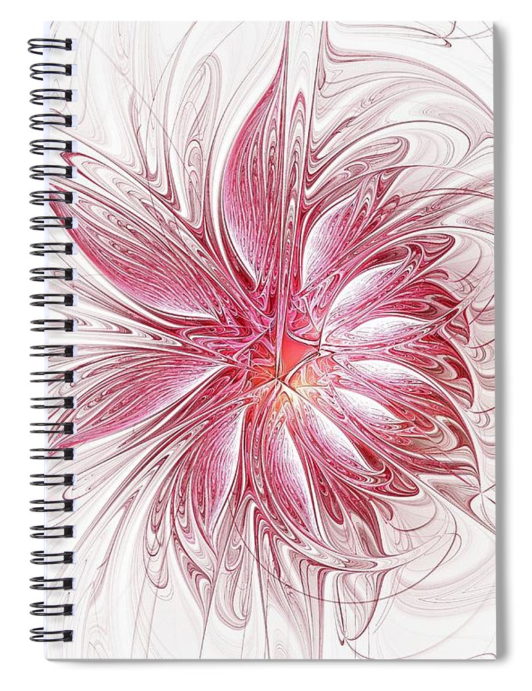 Digital Art Spiral Notebook featuring the digital art Fragile by Amanda Moore